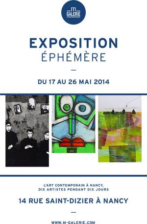 exposition éphémère artistes nancy galerie m michel barrois