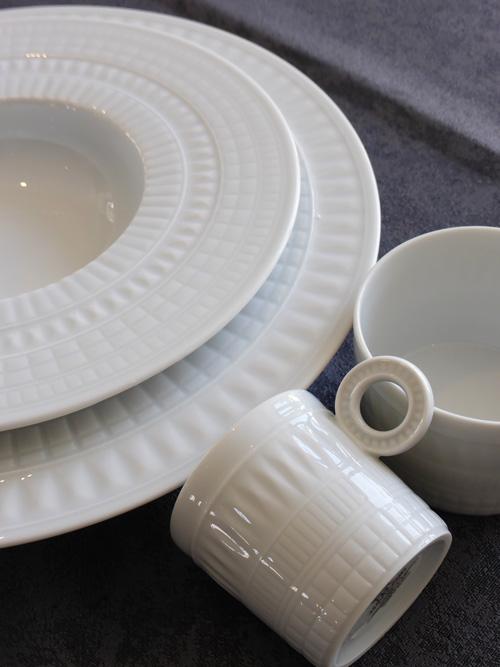 haviland vente second choix declassés porcelaine blanche nancy série sublime assiette à risotto