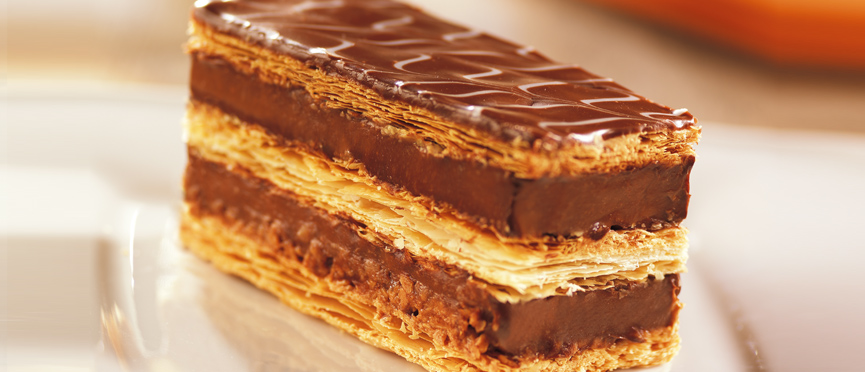 recette de millefeuille au chocolat