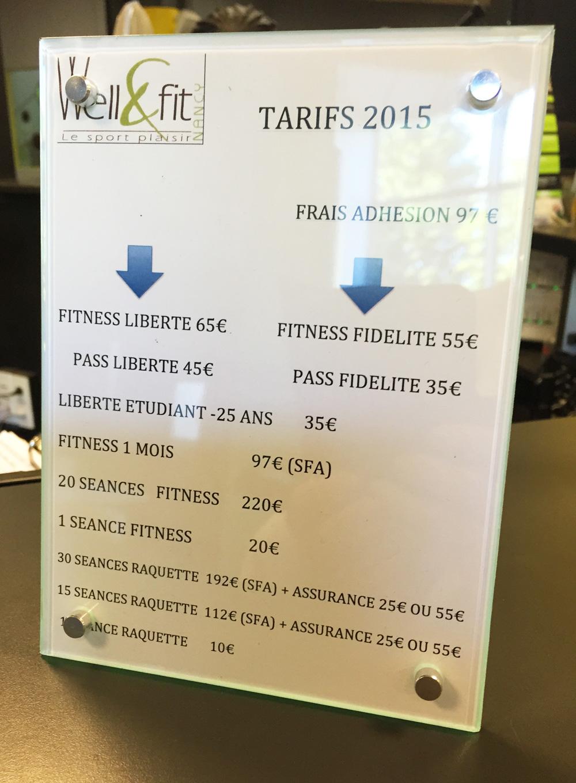 tarifs welle fit club sports nancy laxou