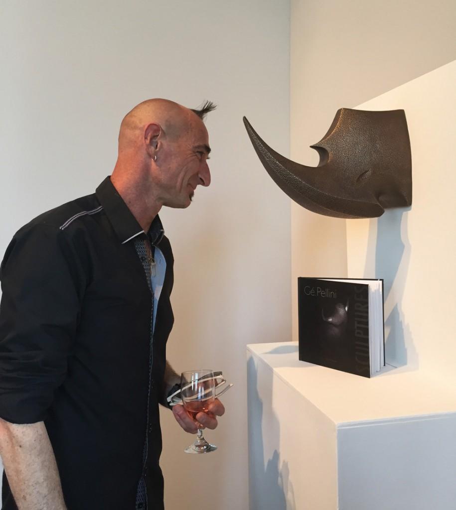 gerard pellini sculpteur nancy taureau rhinocéros marbre exposition waint max lorraine le chateau mai 2015