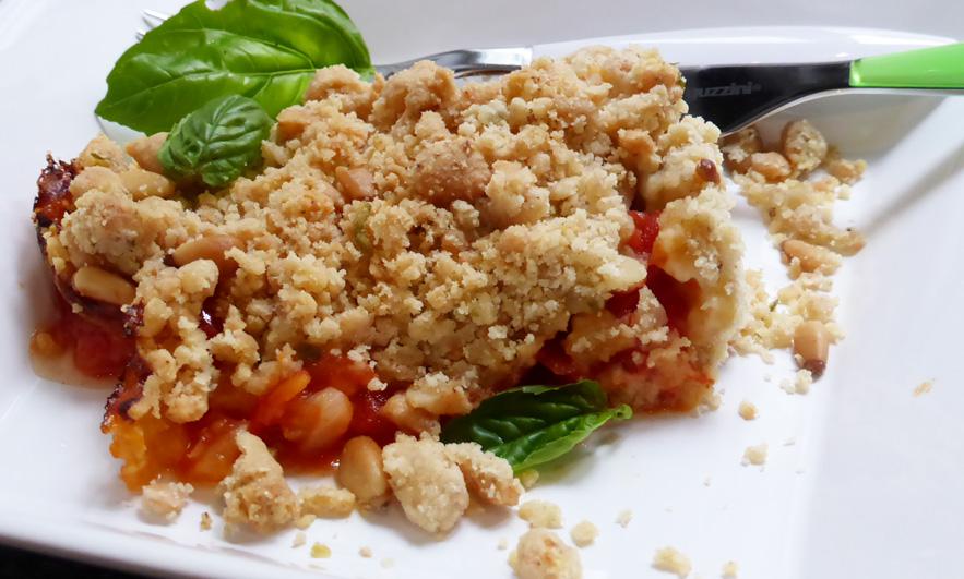 crumble de tomates pignons parmesan nancybuzz