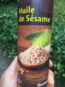 huile de sesame d'auchan