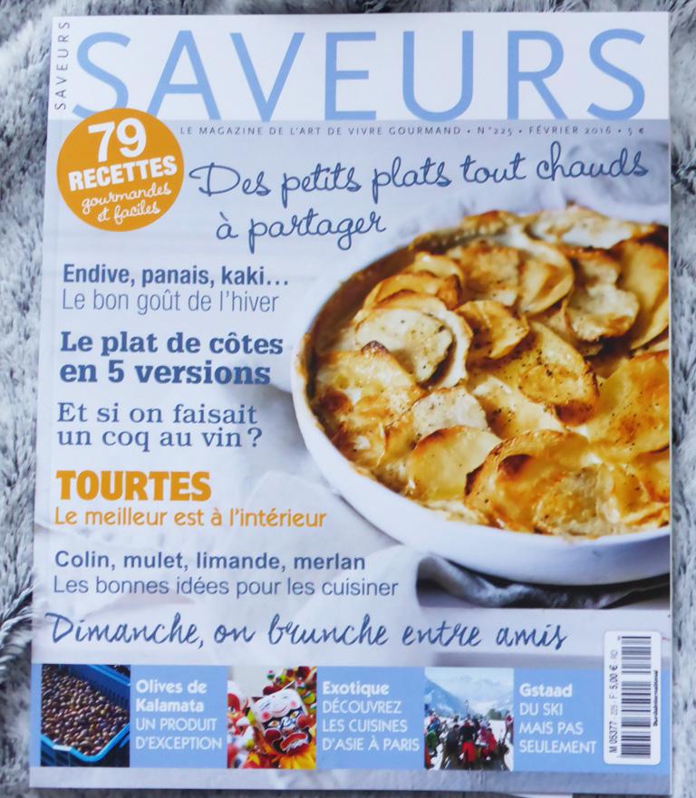 magazine saveurs janvier 2016
