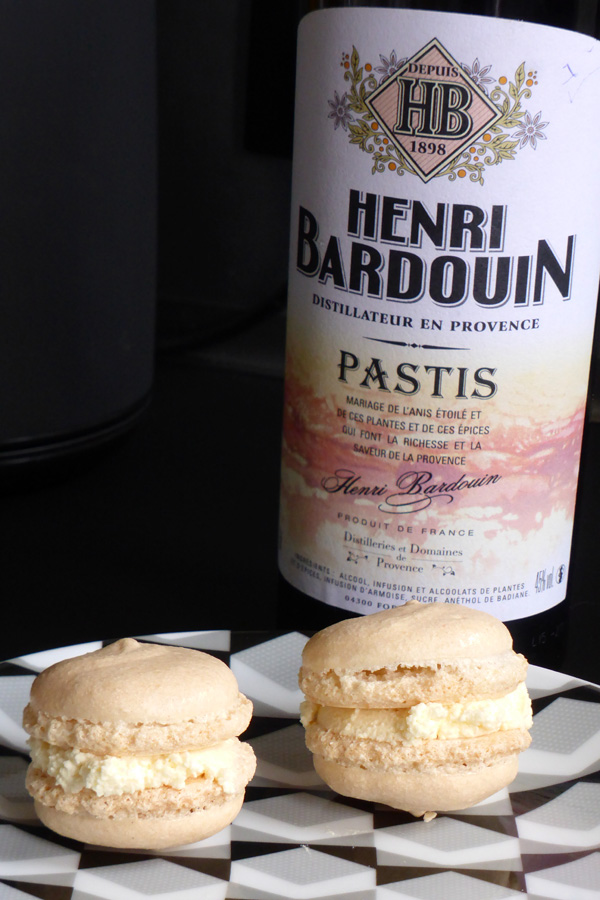 recette de macaron au pastis Henri Bardouin nancy
