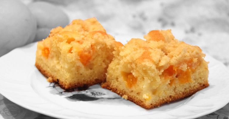gateau crumb cake aux abricots