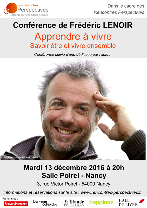 conférence de Frédéric lenoir à nancy
