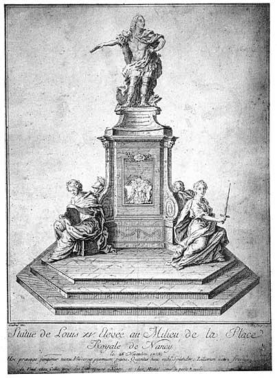 statue d elouis XV place stanislas nancy