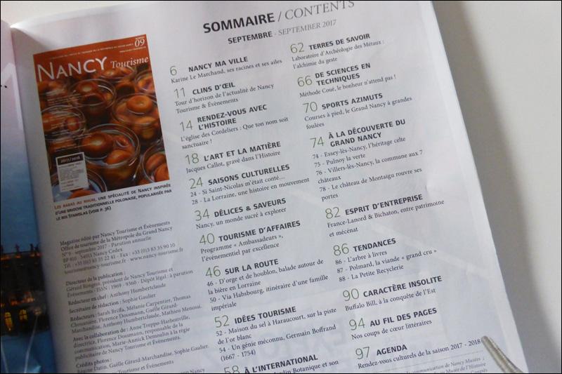 sommaire du magazine ancy tourisme n9 septembre 2017