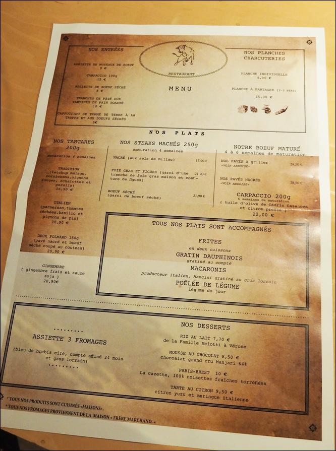 carte alexandre polmard nancy restaurant boucherie rue stanislas