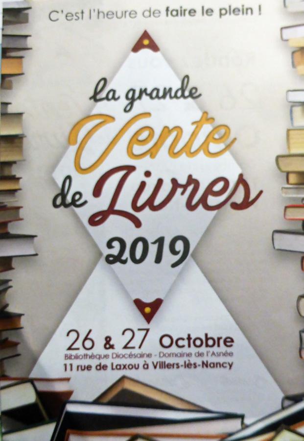 villers les nancy domaine de l'asnee bibliothèque diocesaine vente de livres 2019