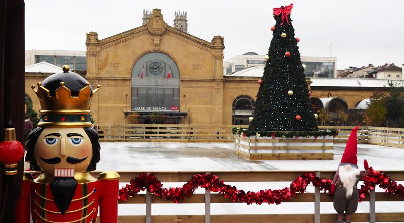 nancy fetes de la saint nicolas noel 2017 patinoire place thiers gare quai des Glaces