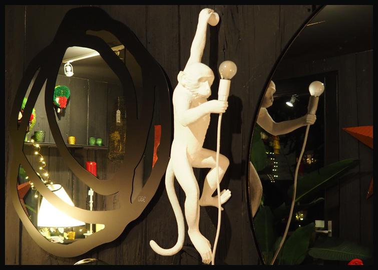 isabelle jung villa 1901 nancy concept store decoration chambres d'hotes miroir paola navona singe seletti