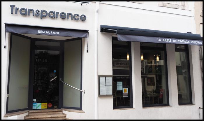 restaurant transparence nancy patrick frechin etoile michelin