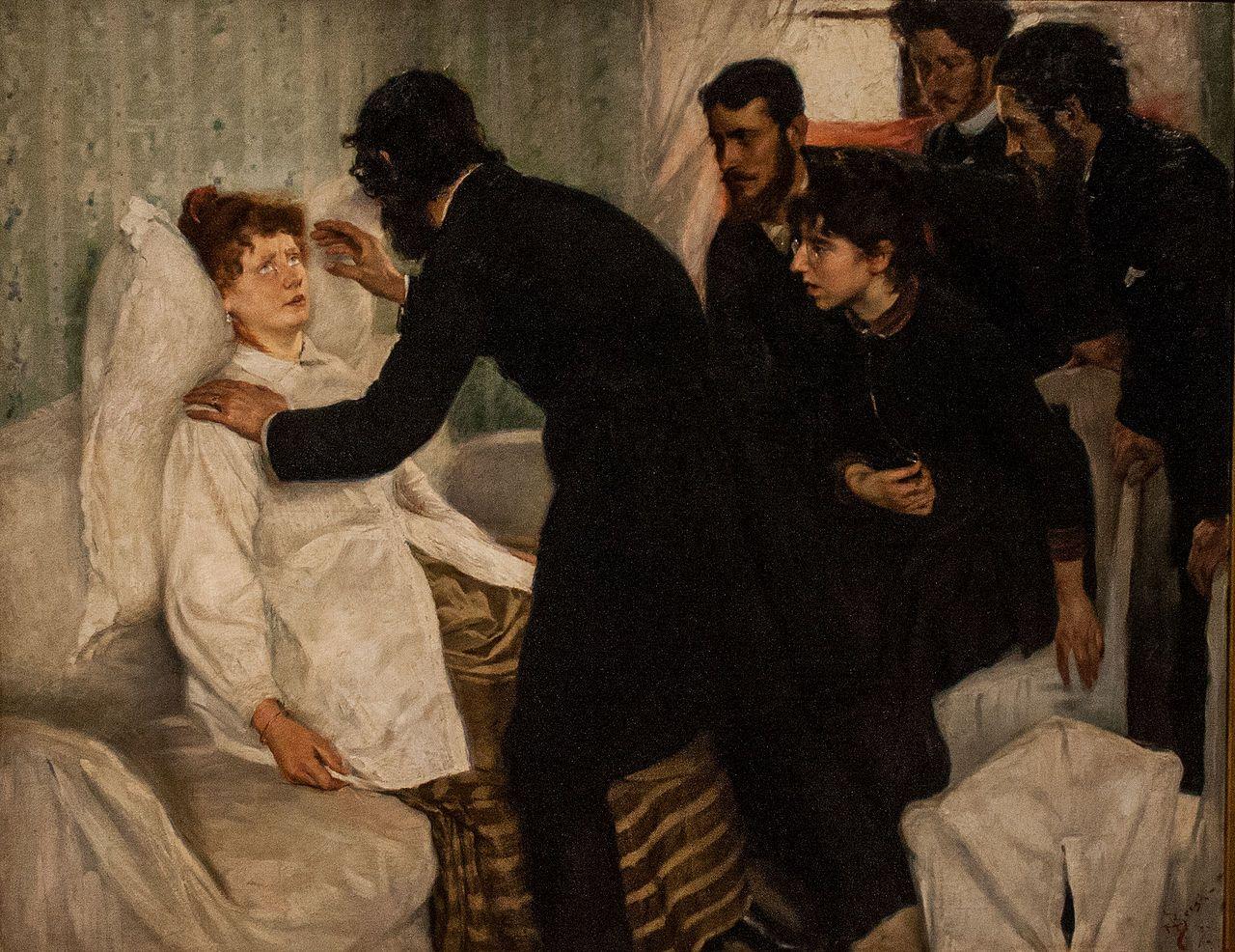 Seance d'hypnose, peinte par Richard Bergh (1858-1919).