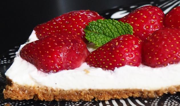recette de tarte aux fraises sans cuisson mascarpone et speculoos