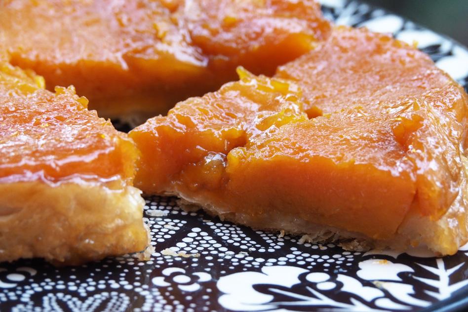 recette de tarte tatin sucrée à la courge butternut