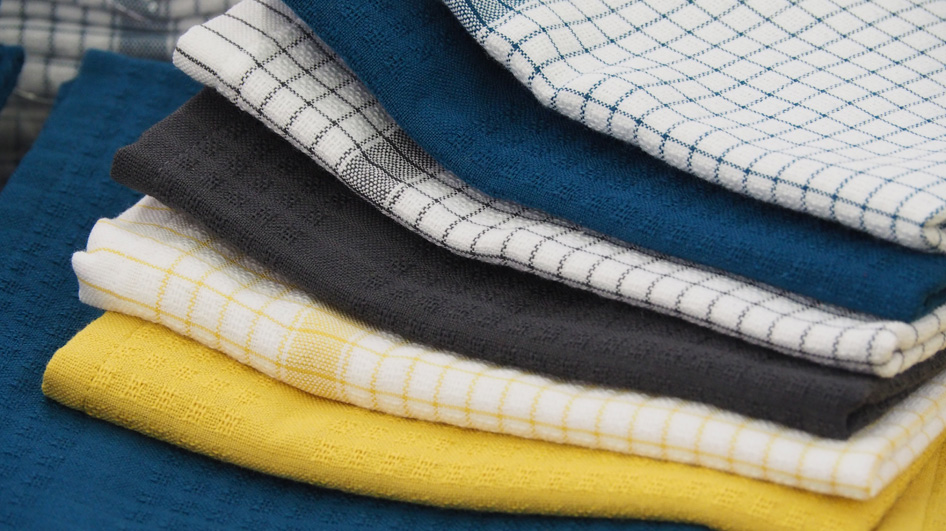 torchons en gaufrex lingorama nancy bleu et jaune