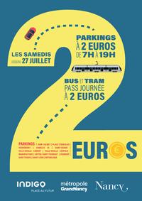 nancy parking à deux euros le samedi
