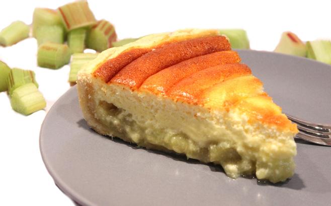 recette de taerte rhubarbe au fromage blanc
