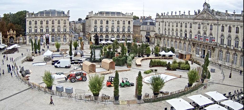 nancy place stanislas jardin ephemere 2019 empreinte webcam