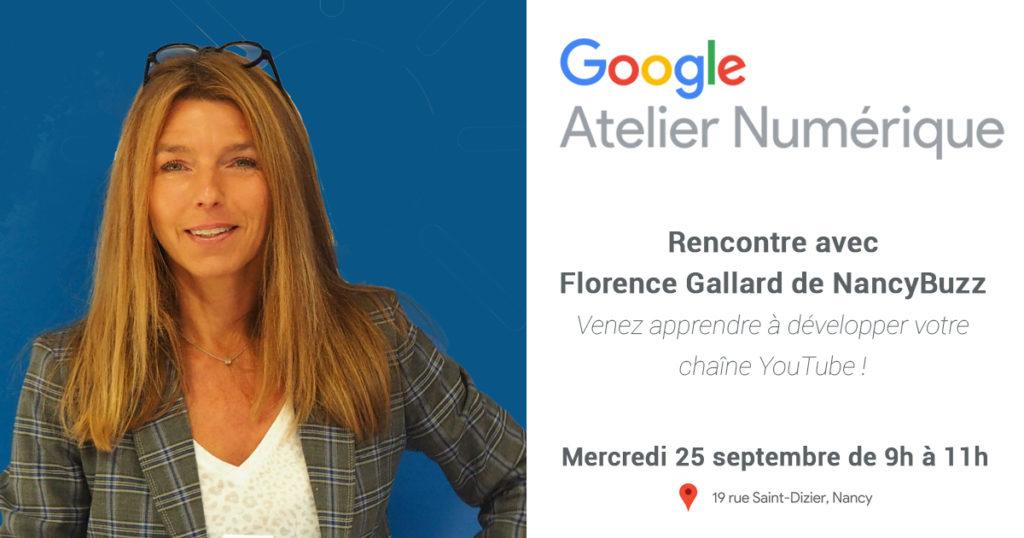 nancy google atelier numerique creer sa chaine you tube avec florence gallard