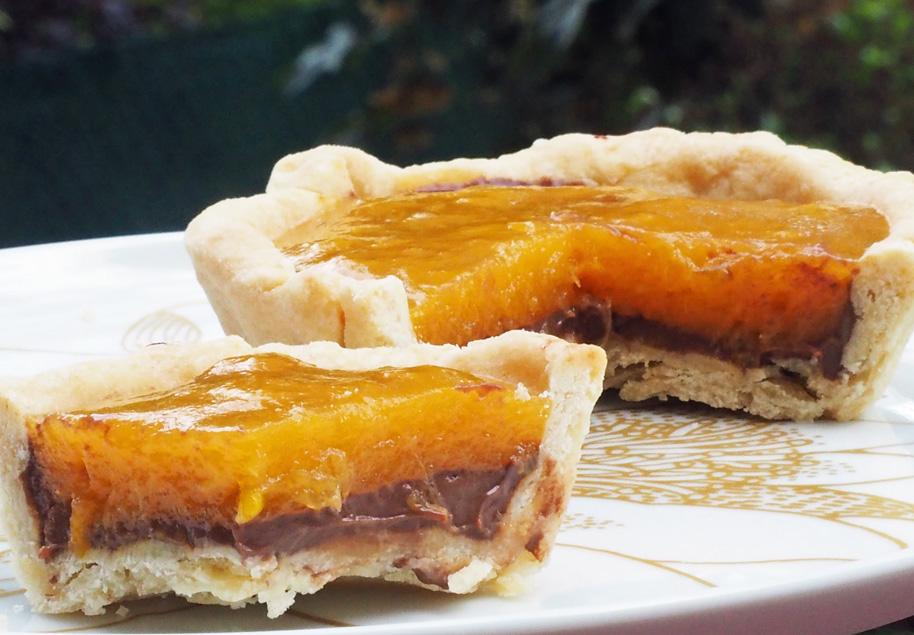 recette tarte mirabelle et ganache au chocolat