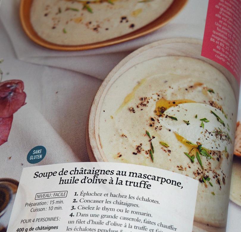 soupe de chataigne au mascarpone